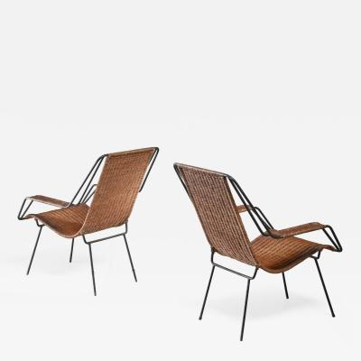 Martin Eisler Carlo Hauner Carlo Hauner and Martin Eisler pair of lounge chairs Brazil