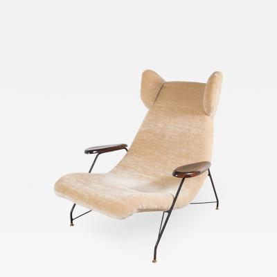 Martin Eisler Carlo Hauner Martin Eisler Carlo Hauner Chair with Metal Base and Palisander Armrests
