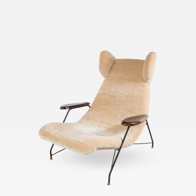 Martin Eisler Carlo Hauner Martin Eisler Carlo Hauner Chair with Metal Base and Palisander Armrests