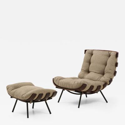 Martin Eisler Carlo Hauner Mid Century Modern Costela Lounge Chair by Carlo Hauner and Martin Eisler 1950s