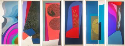 Mashiko Japanese Abstract Expressionist Serigraphs Signed Numbered Mashiko