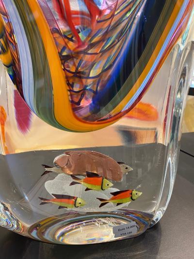 Massimiliano Schiavon One of a Kind Murano Vase by Schiavon
