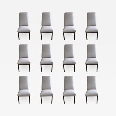 Mastercraft 12 Mastercraft Dining Room Chairs With Bronze Finished Legs