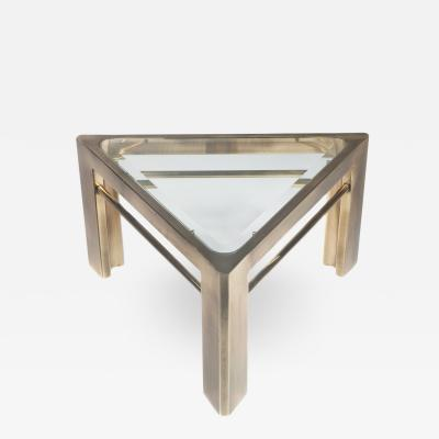 Mastercraft 1970s Mastercraft Triangular Side Table in Brass