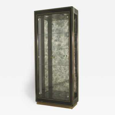 Mastercraft 3 American Mid Century Modern Ebonized Metal and Brass Trimmed Vitrine Cabinets