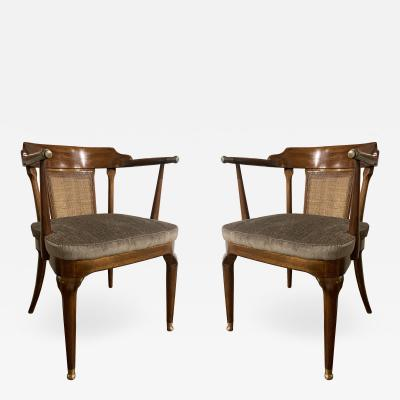 Mastercraft A Rare Pair of Walnut Arm Chairs by Mastercraft