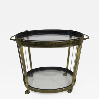 Mastercraft Bernhard Rohne Mid Century Modern Acid Etched Brass Mastercraft Bar Cart