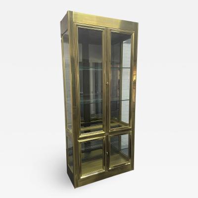 Mastercraft Brass Mastercraft Display Cabinet