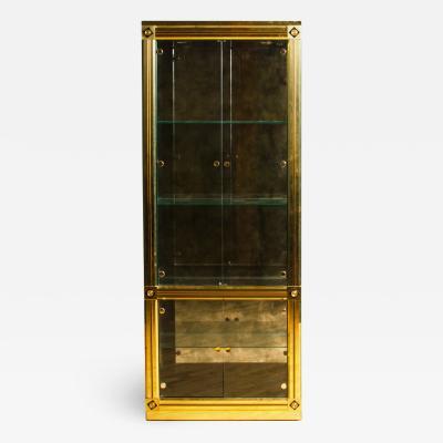 Mastercraft Brass display cabinet or Vitrine Original Mastercraft of Grand Rapids