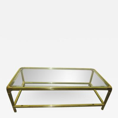 Mastercraft Brilliant Solid Brass Mastercraft Coffee Table Hollywood Regency Modern