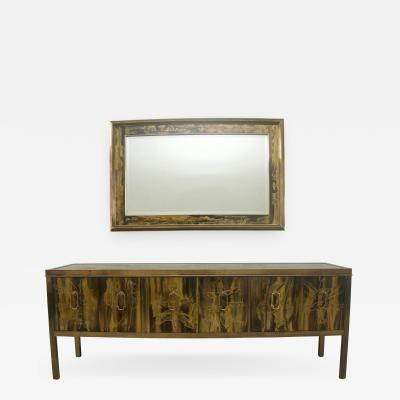Mastercraft Buffet Credenza and Wall Mirror