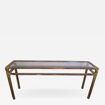 Mastercraft Excellent Mastercraft Thick Brass Console Table