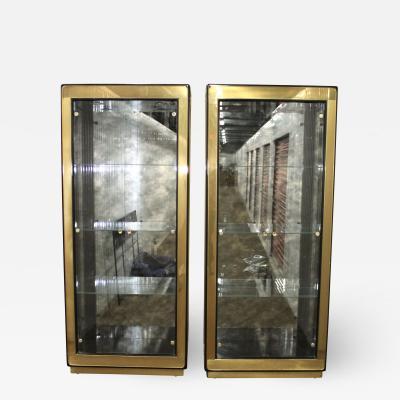 Mastercraft Mastercraft Brass Vitrine Cabinets