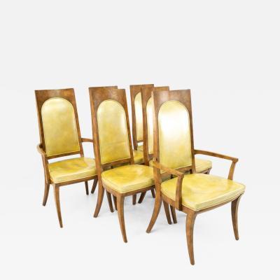Mastercraft Mastercraft Mid Century Burlwood Dining Chairs Set of 6