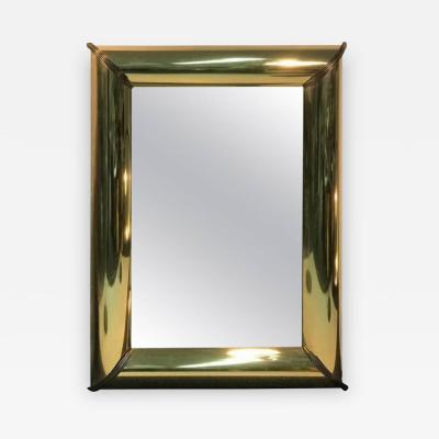 Mastercraft Monumental Brass Mirror with Brass Trim and Bold Moldings