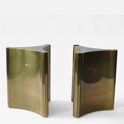 Mastercraft Pair of Mastercraft Brass Dining Table Pedestals