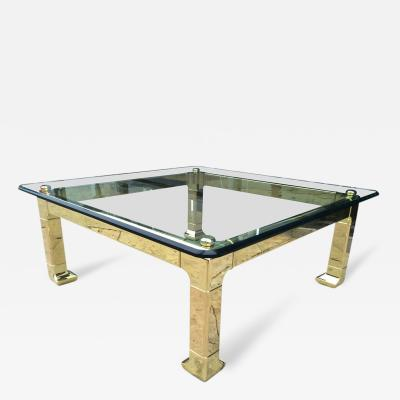 Mastercraft Solid Brass Asian Style Coffee Table by Mastercraft