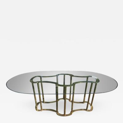Mastercraft Stunning Mastercraft Brass Racetrack Dining Table Hollywood Regency