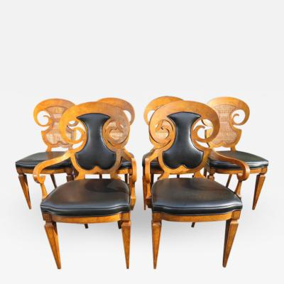 Mastercraft Stunning Set of Six William Doezema Biedermeier Dining Chairs for Mastercraft