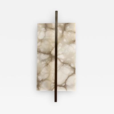 Matlight Milano Contemporary Italian Minimalist Alabaster Bronze Geometric Tile Wall Light