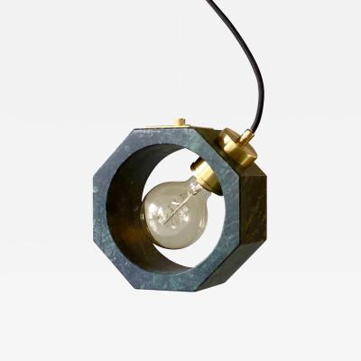 Matlight Milano Contemporary Matlight Italian Essential Octagon Minimalist Green Marble Pendant