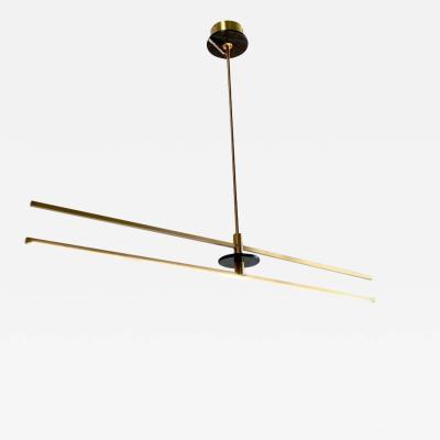 Matlight Milano Contemporary Minimalist Geometric Black Marble Satin Brass Chandelier Pendant