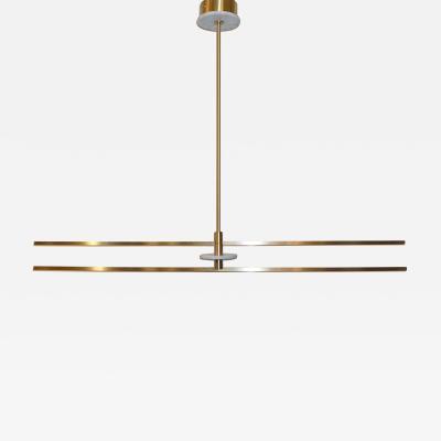 Matlight Milano Contemporary Minimalist Geometric White Marble Satin Brass Chandelier or Pendant