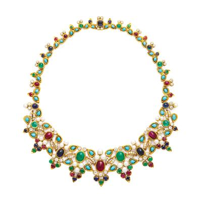 Mauboussin 1950s Multi Gem Necklace by Mauboussin