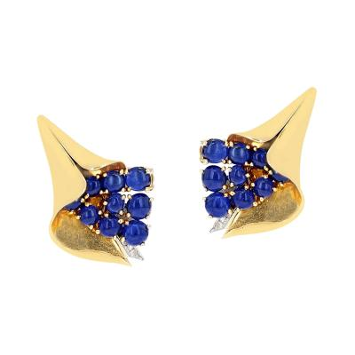 Mauboussin MAUBOUSSIN REFLECTION COLLECTION SAPPHIRE CABOCHON AND DIAMOND EARRINGS