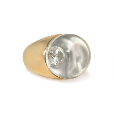 Mauboussin Mauboussin Estate Crystal and Diamond Ring