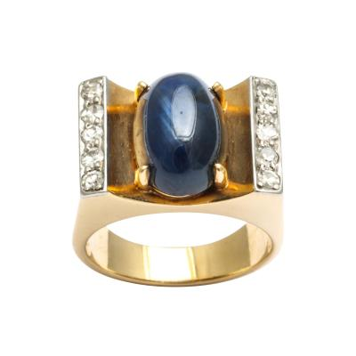 Mauboussin Mauboussin Gold Ring with Sapphire and Diamonds