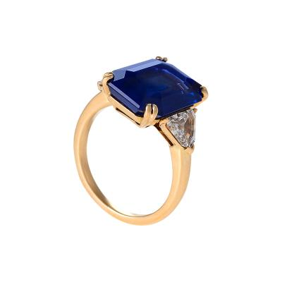Mauboussin Mauboussin Paris Mid 20th Century Sapphire Diamond and Gold Ring