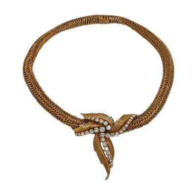 Mauboussin Mauboussin Paris Woven Gold Diamond Necklace