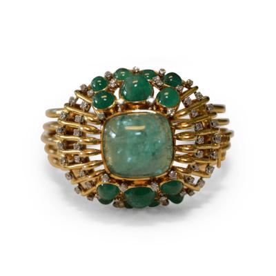 Mauboussin Mauboussin Retro Cabochon Emerald and Diamond Bracelet