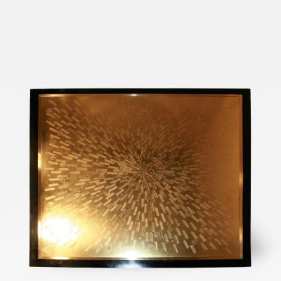 Maud Etched brass square Coffee table by Maud