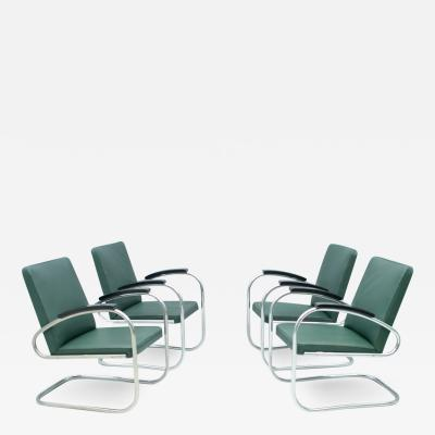 Mauser Werke Set of Four Mauser RS 7 Cantilever Steel Tube Lounge Chairs Germany 1935