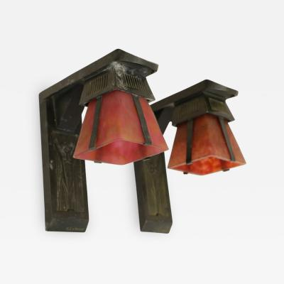 Max Le Verrier French Art Deco Sconces Signed by Max Le Verrier circa 1920 1930