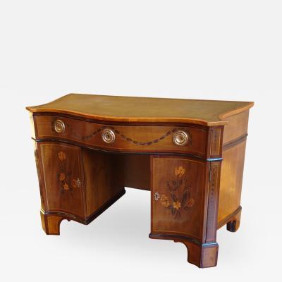 Mayhew Ince George III period harewood and marquetry bureau table