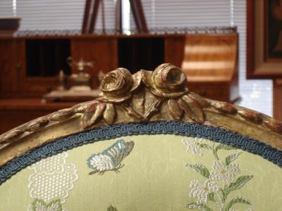 Mayhew Ince George III period salon chair attributable to Mayhew Ince
