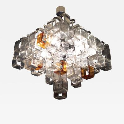 Mazzega Murano 1970s Mazzega Ceiling Light Flush Mount