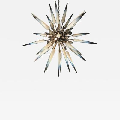 Mazzega Murano Glamorous Italian Murano Glass Sputnik Fixture