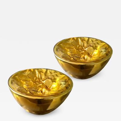 Mazzega Murano Large Gold Murano Glass Floor or Table Lamps Mid Century Modern by Mazzega
