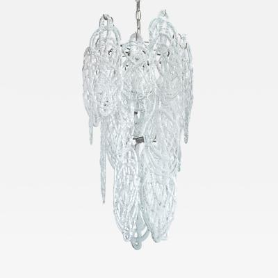 Mazzega Murano Mazzega Chandelier with Drizzled Glass1970s
