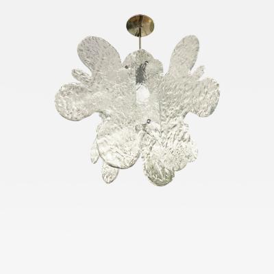 Mazzega Murano Organic Murano Glass Pendant by Mazzega