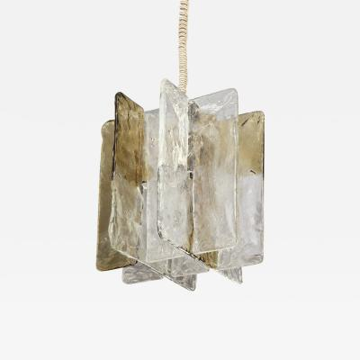 Mazzega Murano Vintage Mazzega Ombre Glass Pendant Chandelier