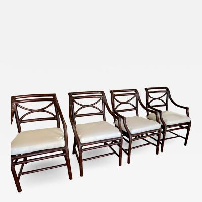 McGuire Furniture McGuire Furniture Company San Francisco Bamboo Dining Arm Chairs a Set of 4