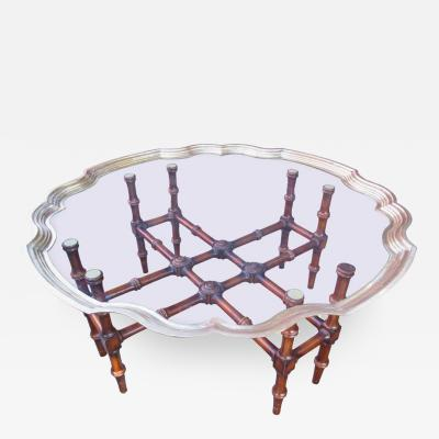 McGuire Hollywood Regency Coffee Table by McGuire