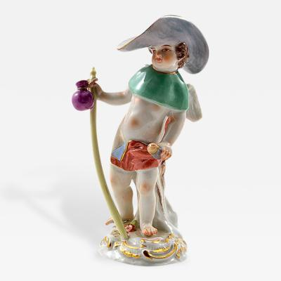 Meissen Meissen Porcelain Figurine Cupid as a Wanderer