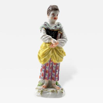 Meissen Meissen Porcelain Figurine of a Girl with a Book