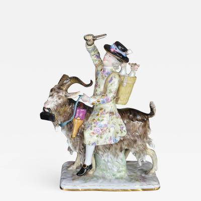 Meissen Meissen Porcelain of a Man on a Goat